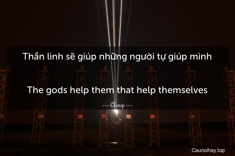 Thần linh sẽ giúp những người tự giúp mình. - The gods help them that help themselves.
